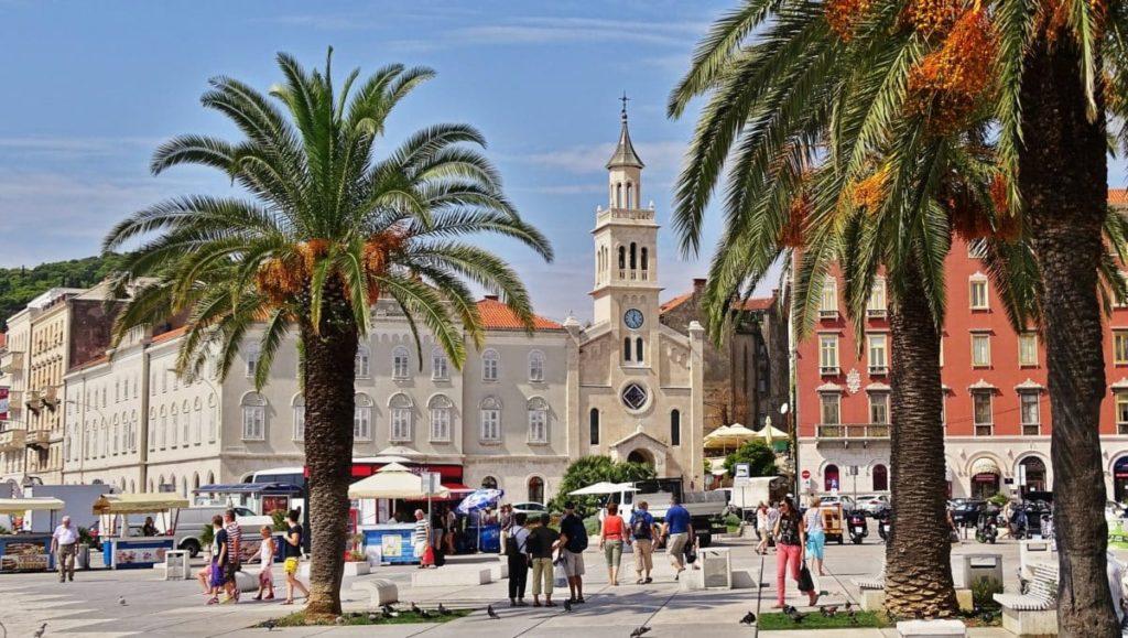 Die Straßen von Dubrovnik in Kroatien.