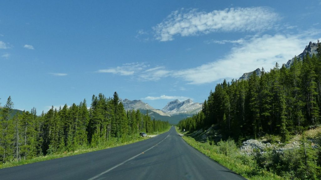 Icefield Parkway in Kanada.