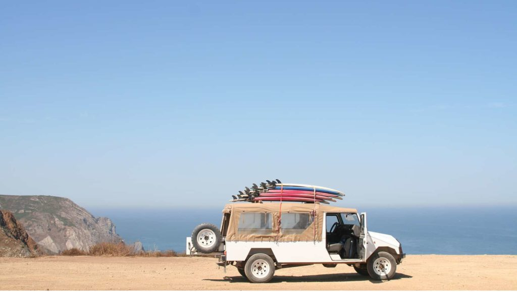Auto fahren durch das schöne Portugal