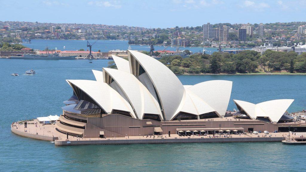Die berühmte Oper in Sydney.