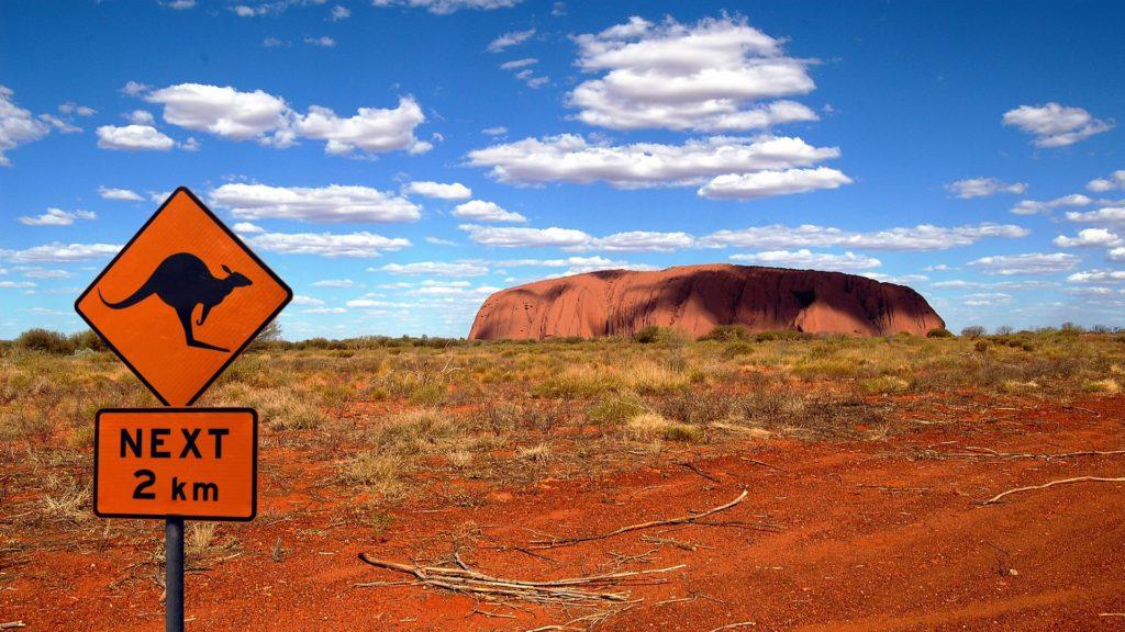 Ayers Rock im australischen Outback