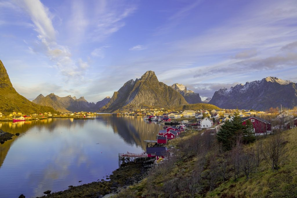 Die beliebten Inseln der Lofoten in Norwegen