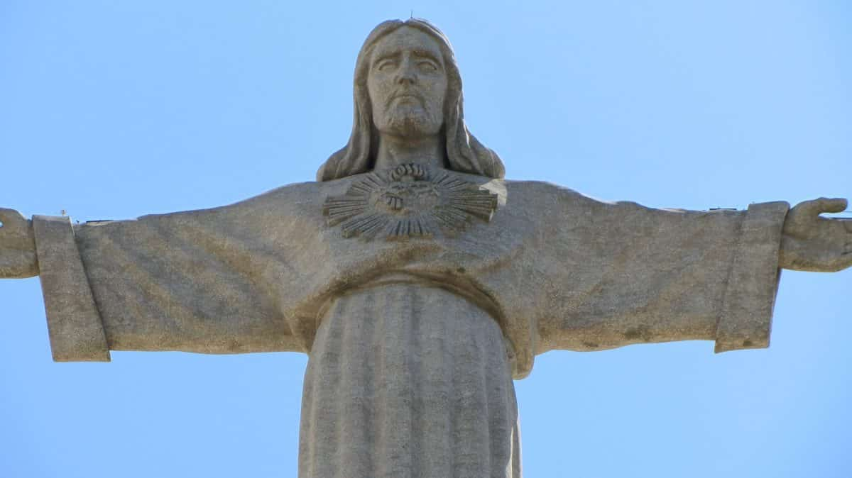 Die Cristo Rei Statue in Lissabon, Portugal