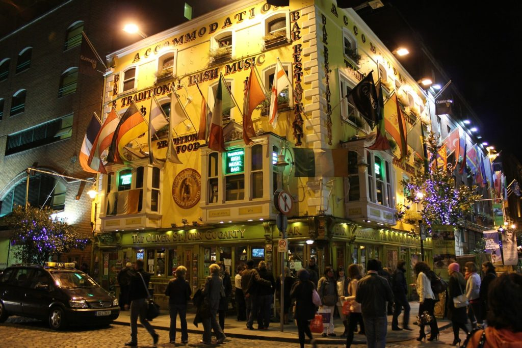 Die Templebar in Dublins Innenstadt