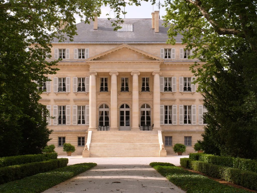 Das chateau margaux in Bordeaux, Frankreich.