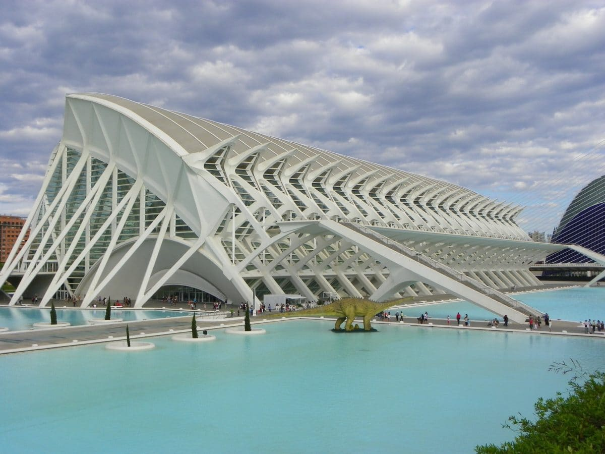 Ciudad de las Artes y de las Ciencias in Valencia, Spanien.