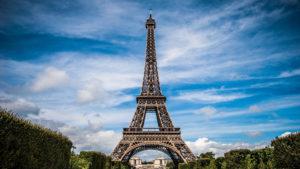 Der Eiffelturm in Paris, Frankreich.