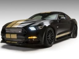 © Ford: Ford Mustang Shelby GT-H in schwarz-gold.