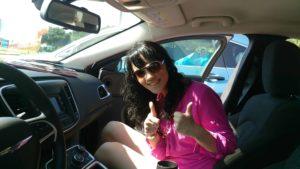 BloggerSteffi im Mietwagen