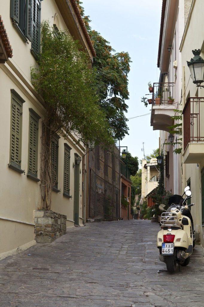 Die Gassen von Athen