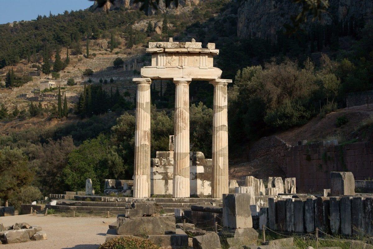 Die Ruinen von Delphi