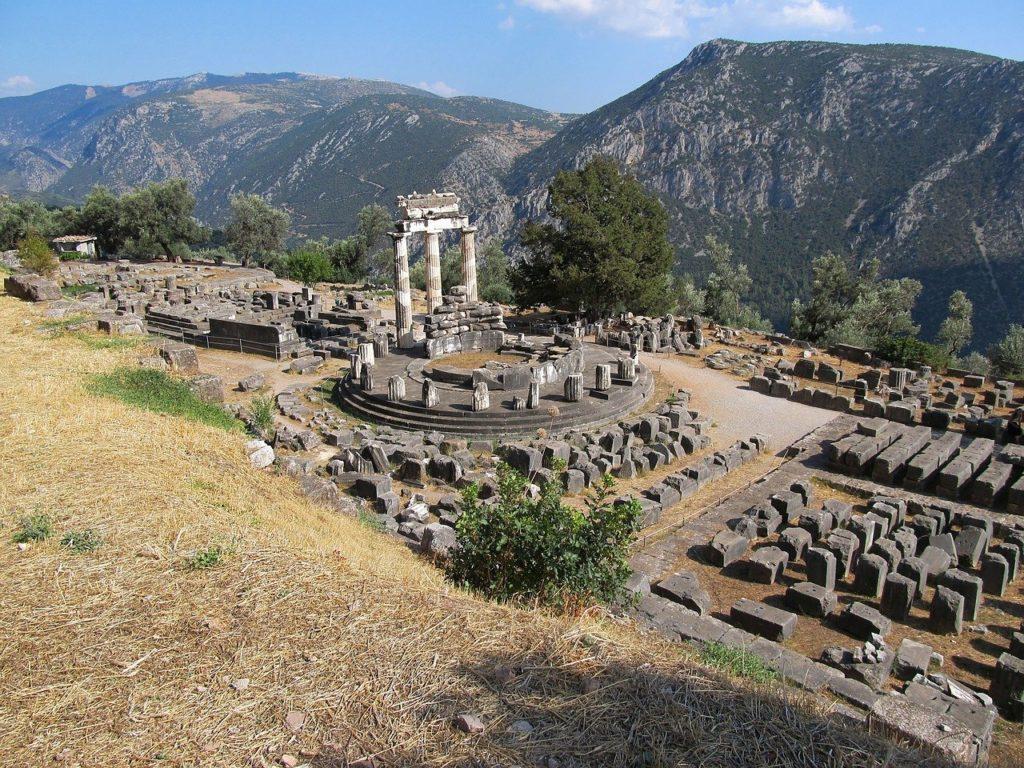 Die Ruinen von Delphi in Griechenland