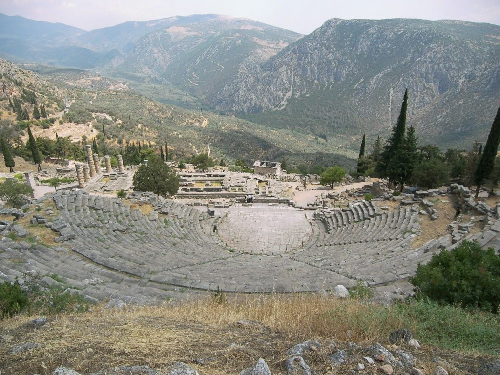 Stadion Ruinen in Delphi