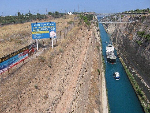 Kanal von Korinth (Halbinsel Peloponnes)