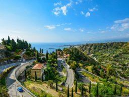 Straße auf Sizilien
