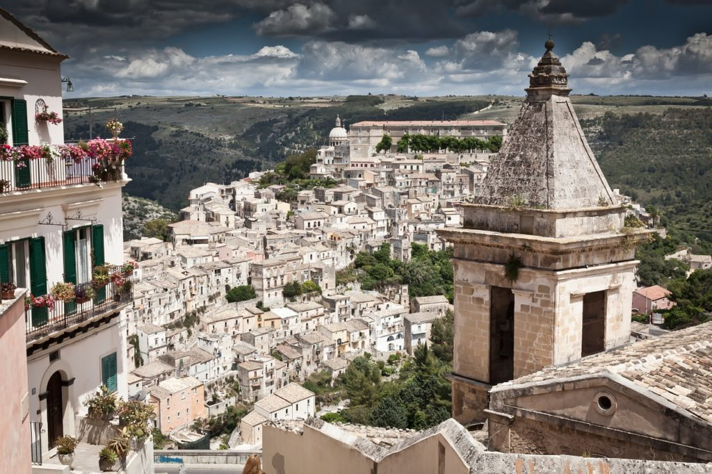 Die Stadt Ragusa auf Sizilien