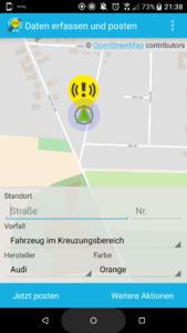 Wegeheld-App: Falschparker Situation beschreiben