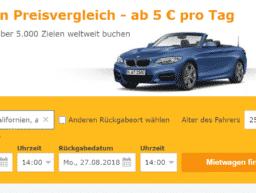 Preisvergleich von Mietwagen.tips