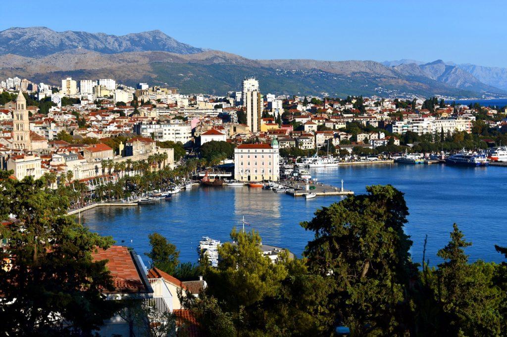 Küstenstadt Split in Kroatien.