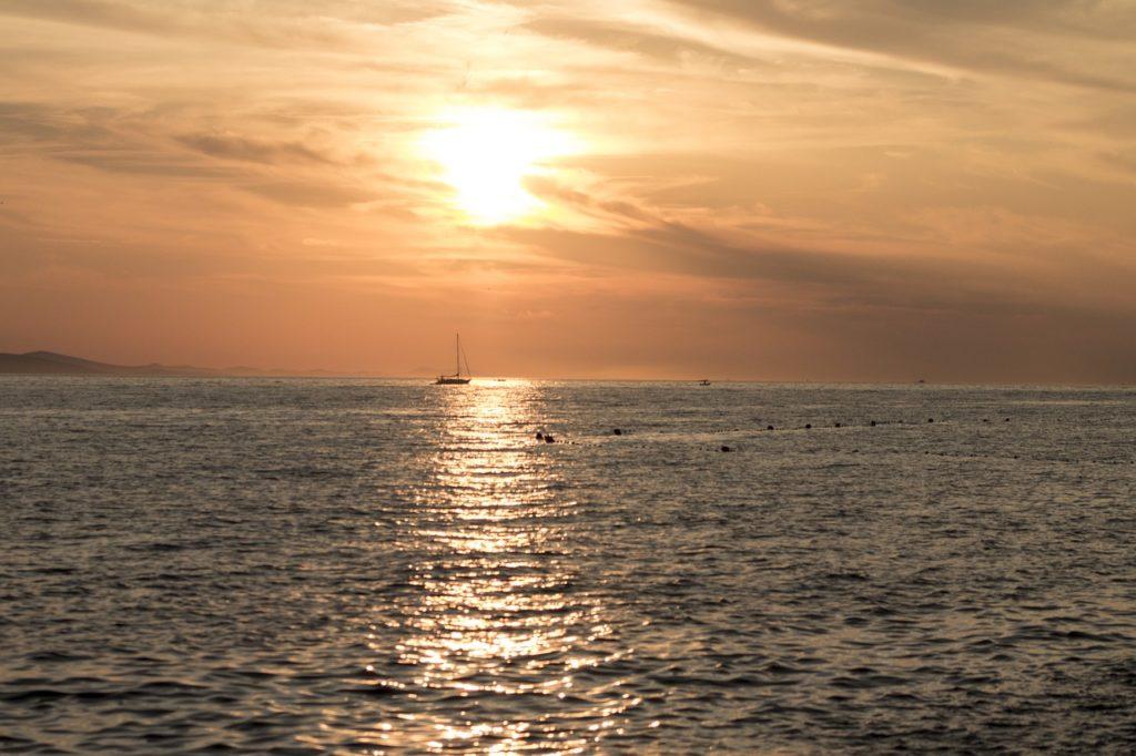 Sonnenuntergang in Zadar, Kroatien