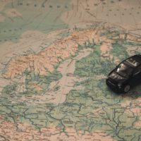 Weltkarte Skandinavien