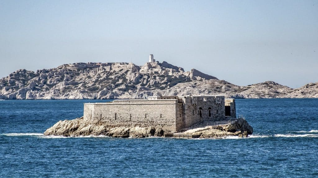 Blick auf die Bucht in Marseille